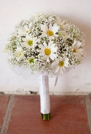 Daisy And Baby Breath Wedding Bouquet Daisy Bouquet Wedding