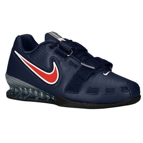 Mens Sports Shoes Nike Romaleos Ii Power Lifting Mens Obsidian Sport Red White Shoes Sports Shoes Real