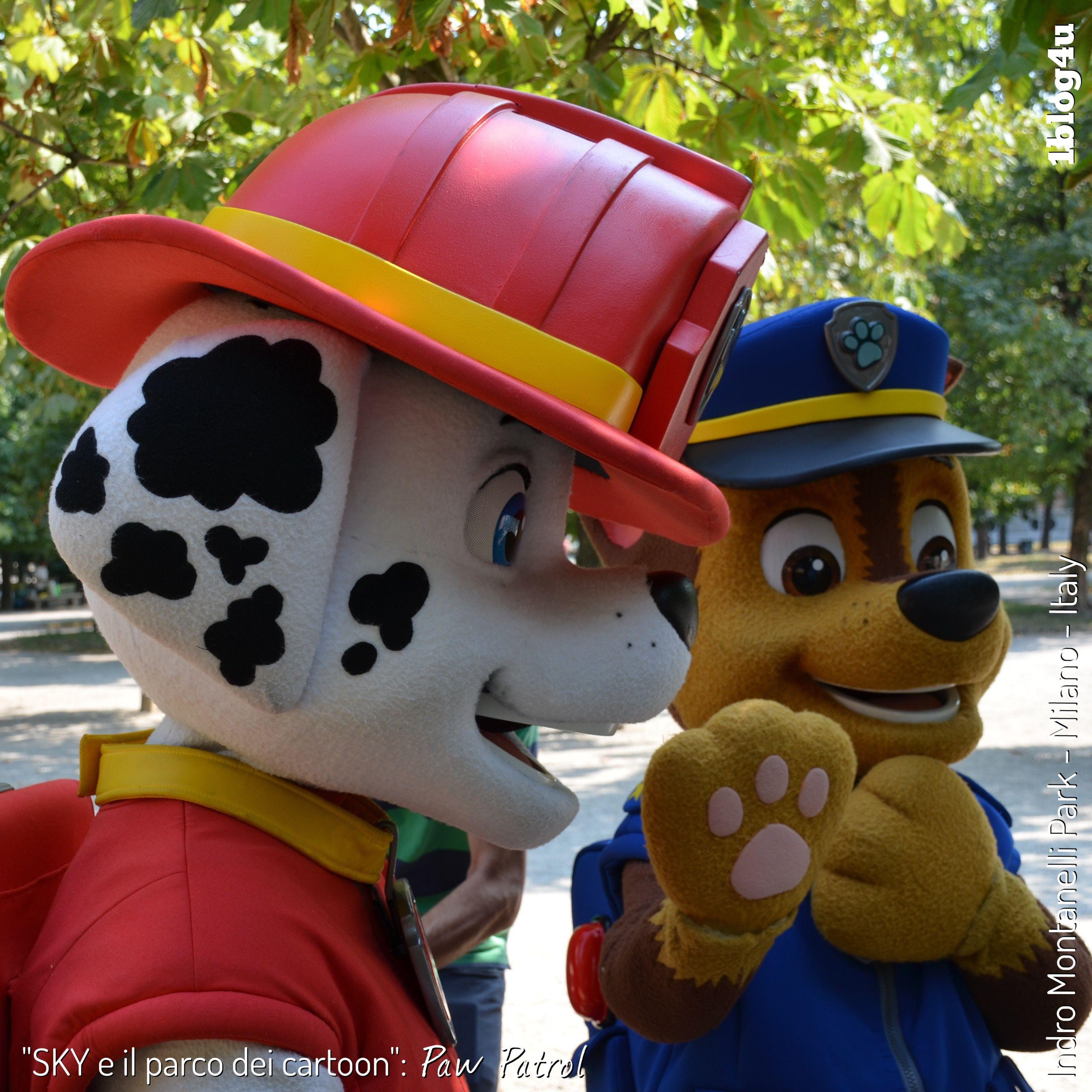 SKY e il parco dei cartoon Paw Patrol Marshall