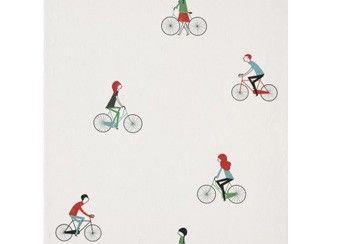 sportief cosas minimas papier behang 'Cycling' Coordonné | kinderen-shop Kleine Zebra