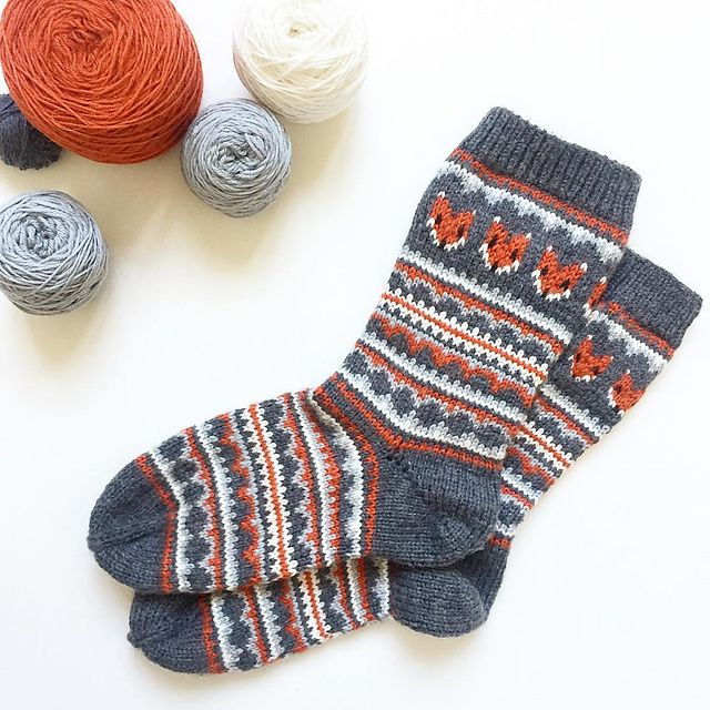 This sock pattern combines two amazing things - fair isle knitting ...