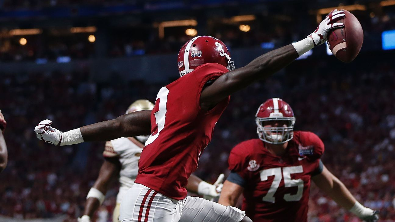 College football chase college football alabama leads pack
