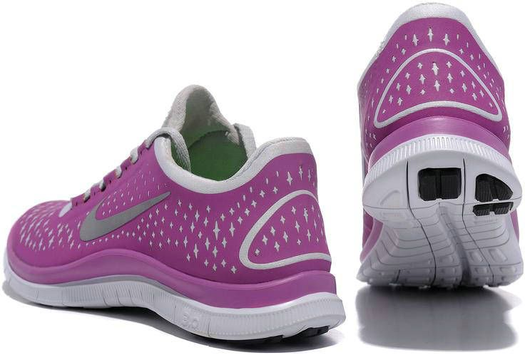 Nike Free 3.0 V4 Shoes Running Purple Grey Women'S Strongly Recommended
