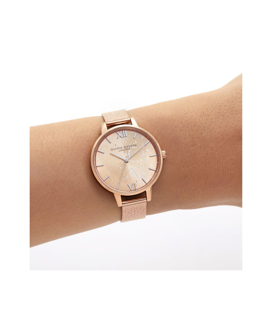 6fe4715c2 OLIVIA BURTON LONDON Celestial Demi Dial Watch with Boucle MeshOB16GD12 – Demi  Dial in rose gold and Silver & Rose Gold - Other view
