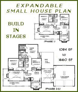 Expandable house plans BS 1084 1660 ADA small expandable country