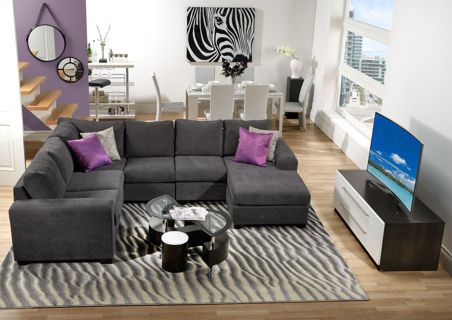 Danielle Upholstery 3 Pc Sectional Leon S Sectionals