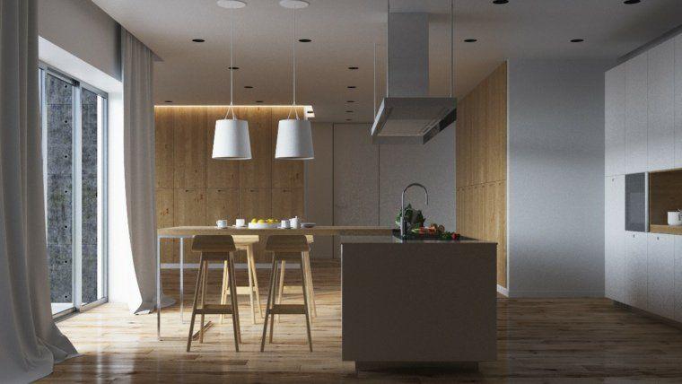 Meuble séparation cuisine salon en plus de 55 idées Cuisine and Salons - Cuisine Moderne Design Avec Ilot