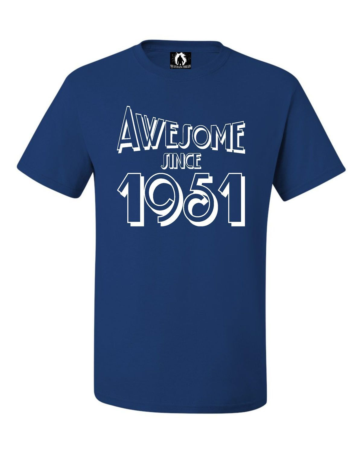 Adult Awesome Since 1951 Funny Birthday Sleeveless Tank Top T-Shirt