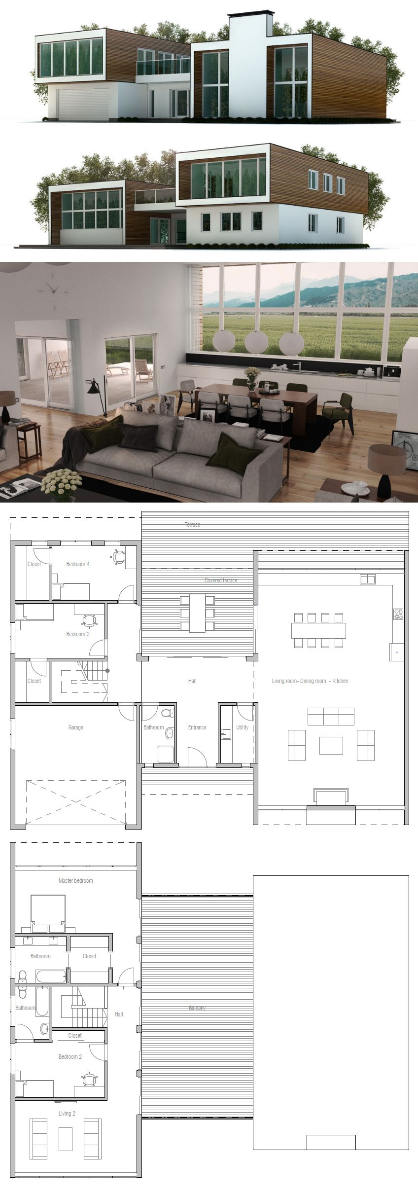 Hauspläne modern  Modern House Plan | Hauspläne | Pinterest | Modern house plans ...