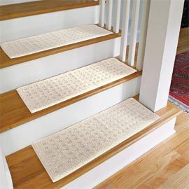 Carpet Stair Treads Protect Wooden Stairs From Wear With Machine Washable All You Have To Do Is Lay These In Place Prevent
