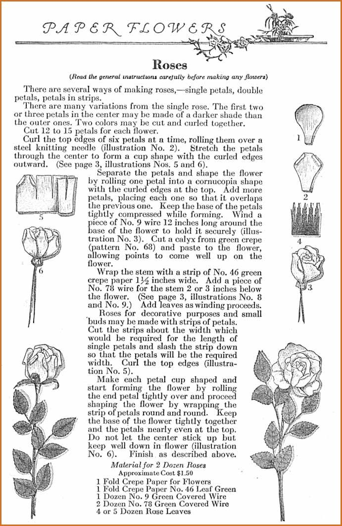 Crepe paper flower instructions from the 1920s tutorials crepe paper flower instructions from the 1920s mightylinksfo Gallery