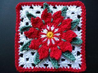 "granny flower Free crochet 12"" granny square pattern on Ravelry"