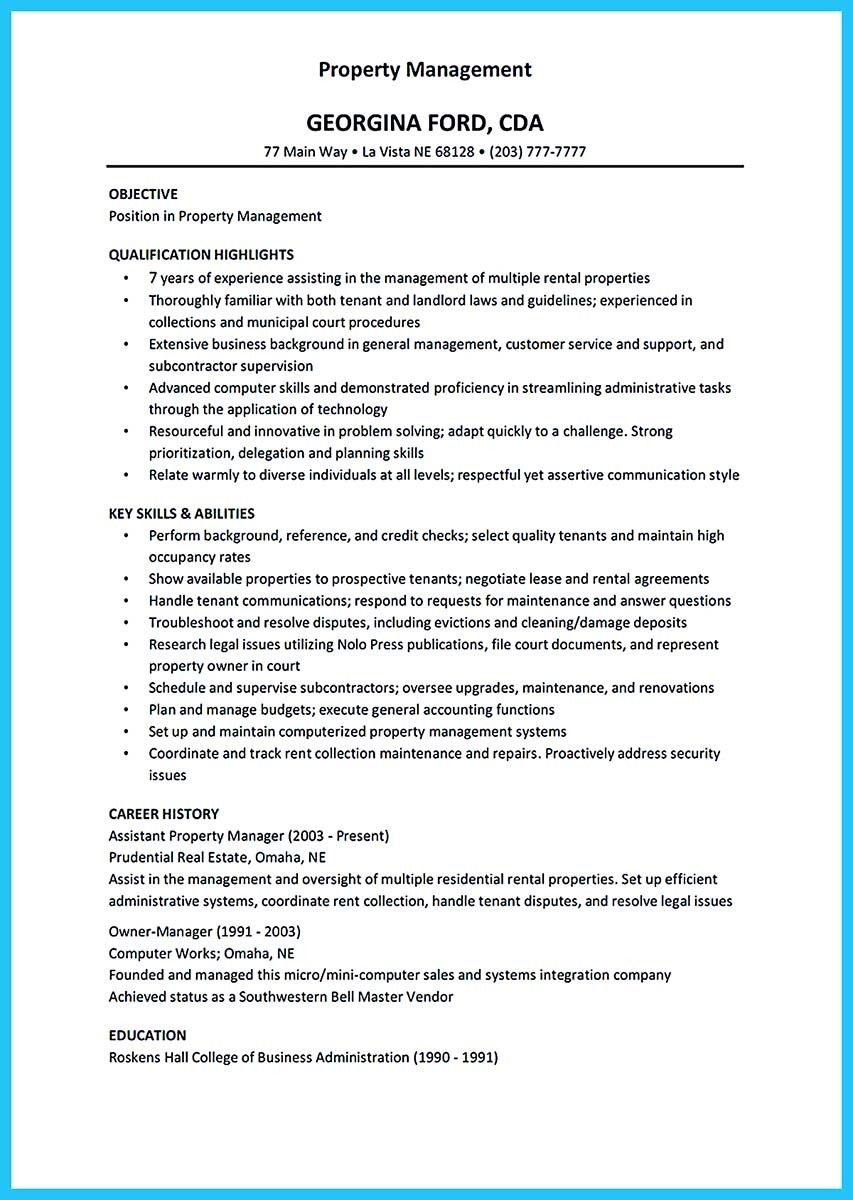 Cool Writing A Great Assistant Property Manager Resume  Resume
