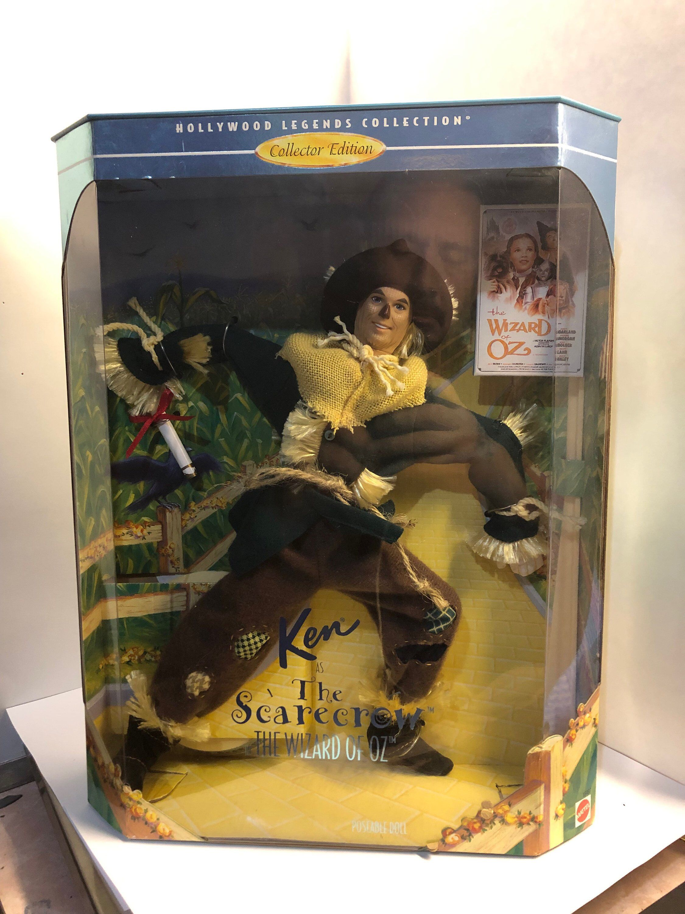 Vintage 1996 Hollywood Legends Collection Ken as The Scarecrow in The Wizard of Oz by Mattel Never Opened #hollywoodlegends