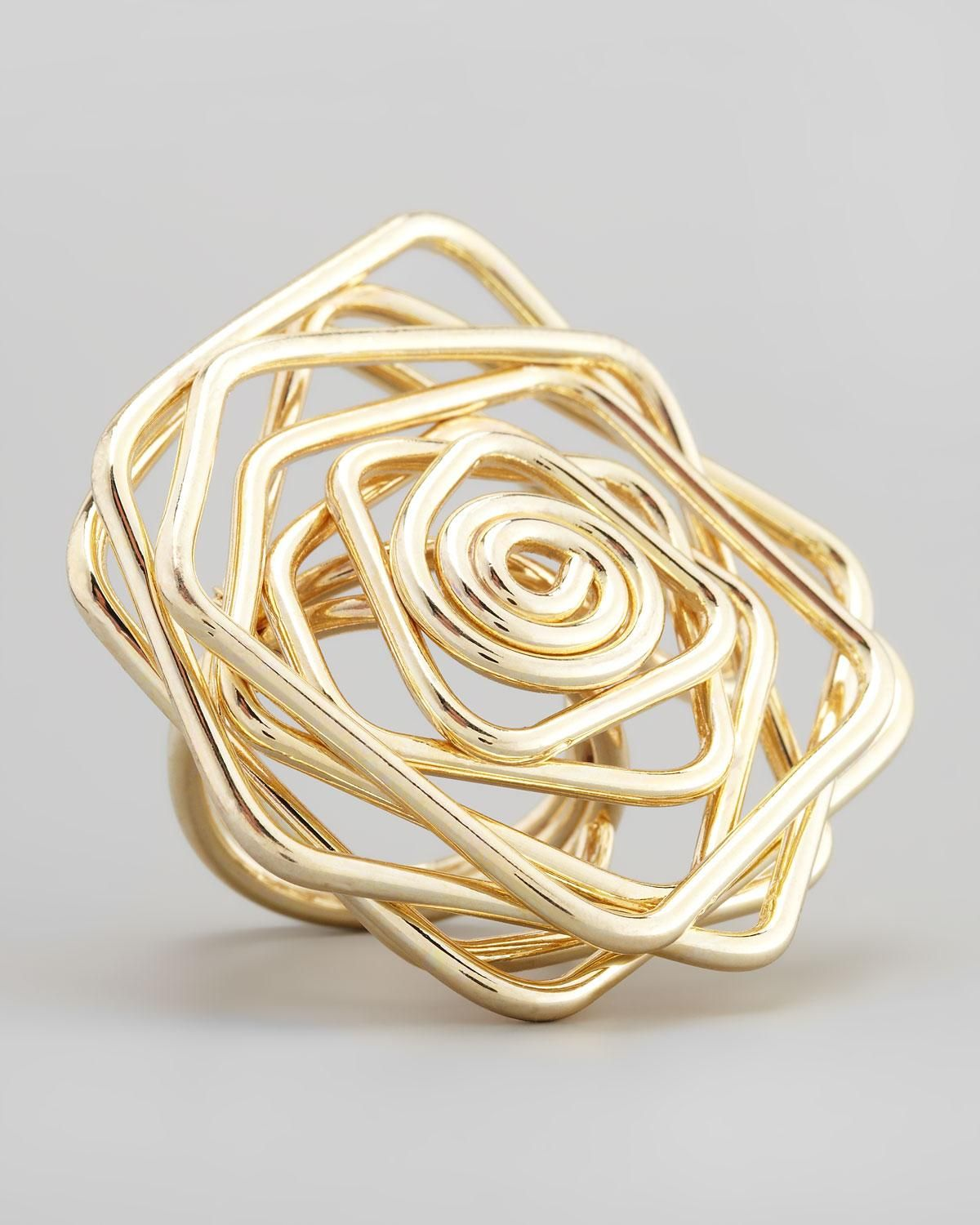 Panacea - Twisted Wire Flower Ring - cusp.com | needful things ...
