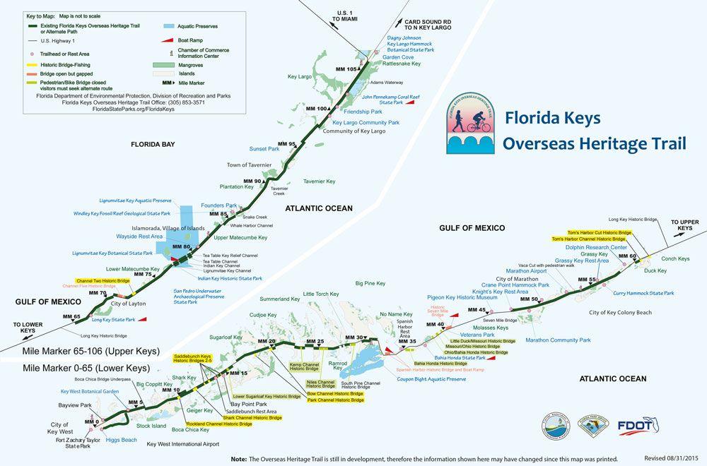 Florida Keys Karte Sehenswürdigkeiten | Florida in 2019 ...