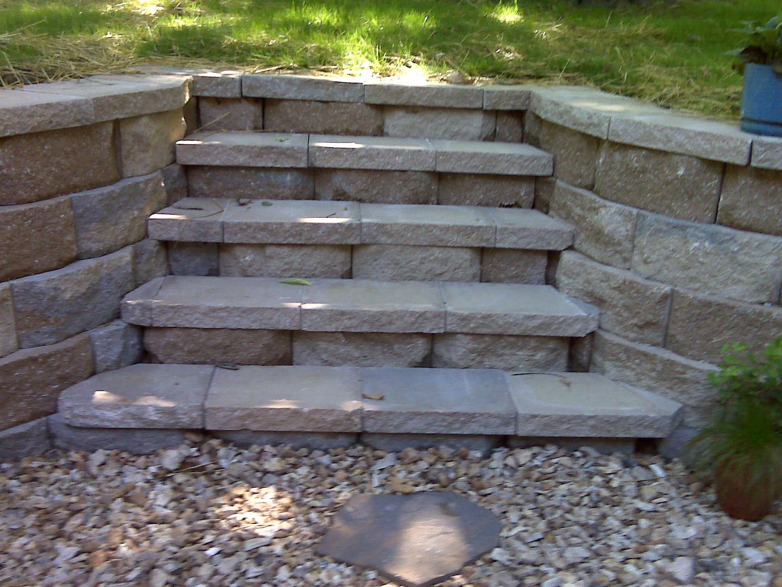 Retaining Wall Home Depot retaining wall | anchor diamond pro block retaining wall after (1