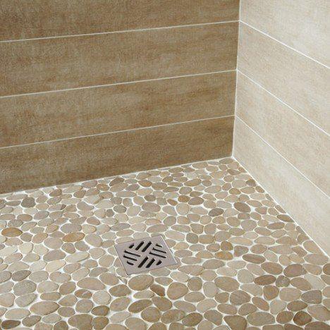 Galets sol et mur Ricochet 50x50cm ivoire | Carrelage salle ...