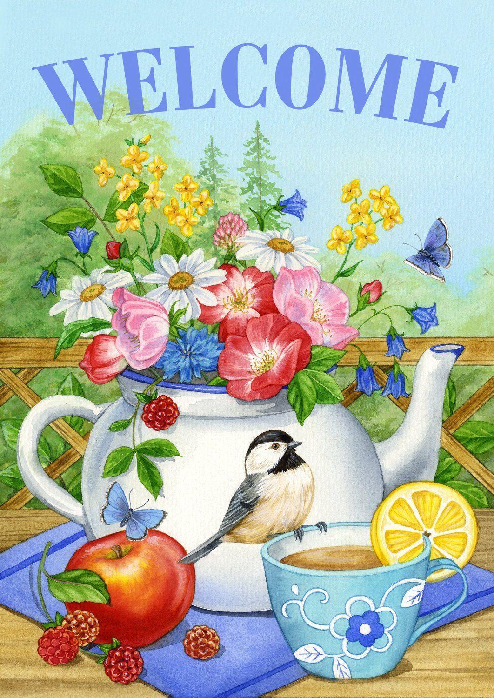 Amazon.com : Toland Home Garden Teatime 28 x 40-Inch Decorative USA ...