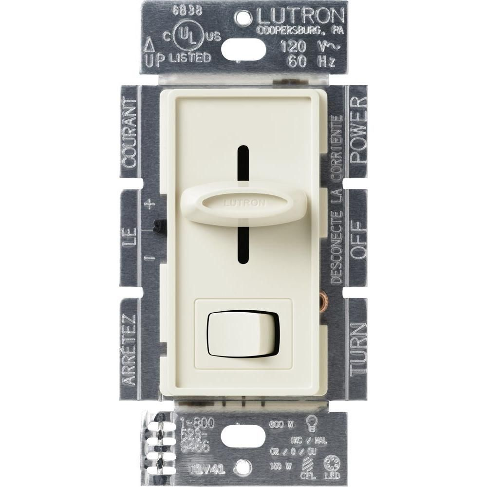 Skylark Cl Dimmer Switch For Dimmable Led Halogen And Incandescent Pwm Using Ne555 Lutron Bulbs Single Pole Or 3 Way Light Almond Scl 153p La The Home Depot