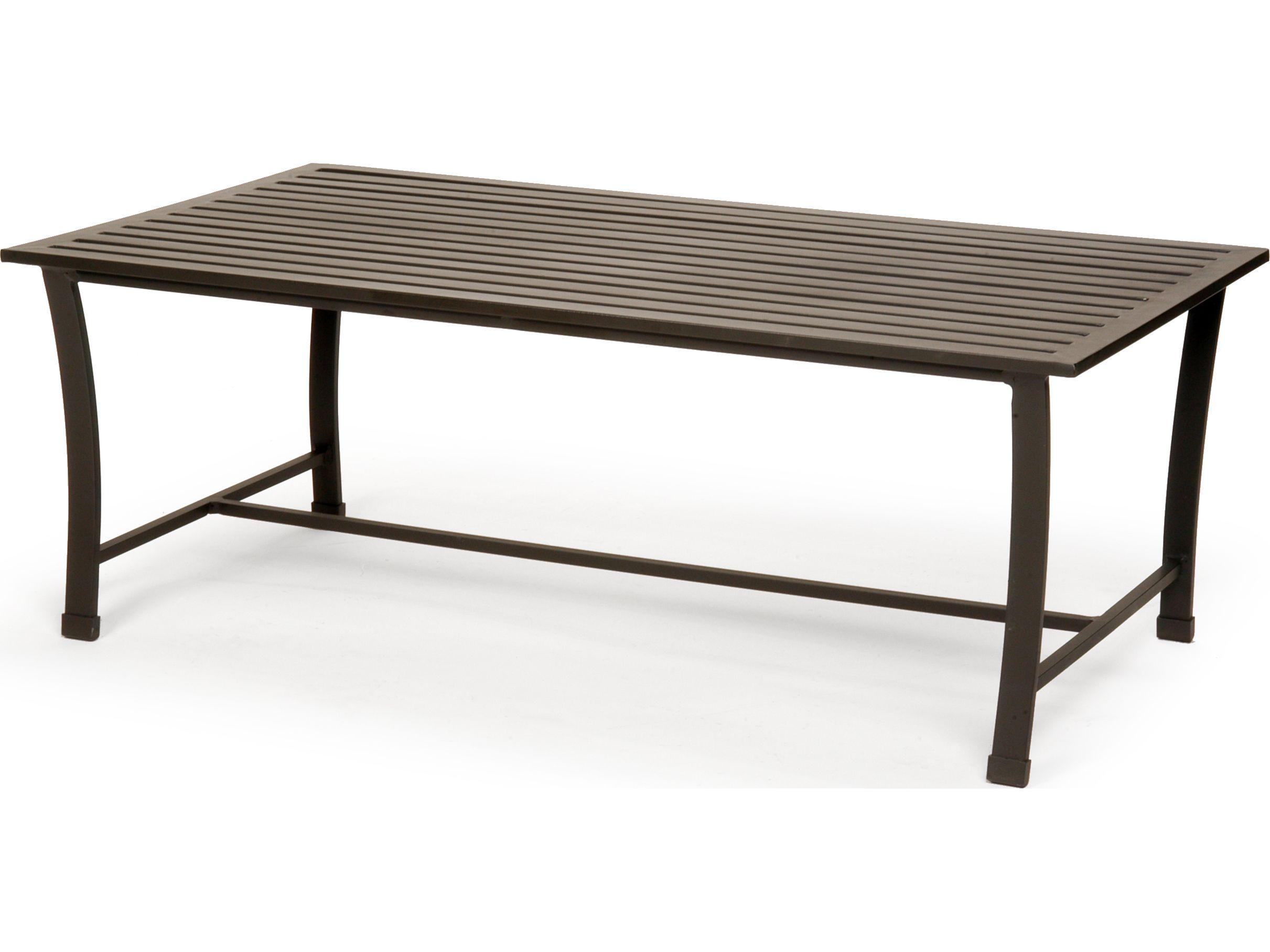 Caluco San Michele Aluminum 44 x 24 Rectangular Metal Coffee Table