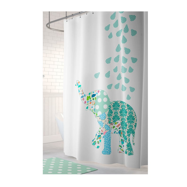 Kids Shower Curtain Elephant Shower Curtain Elephant Etsy Kid
