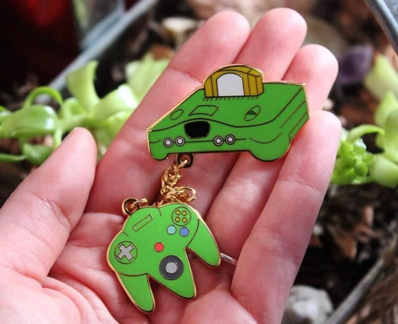 Chain Pins made by PikaKree -N64 Chain Pins made by PikaKree - Mochi Hamster animal random capsule