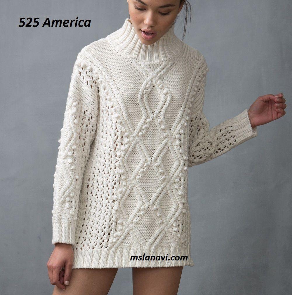 Вязаный свитер спицами от 525 America - СХЕМА http ...