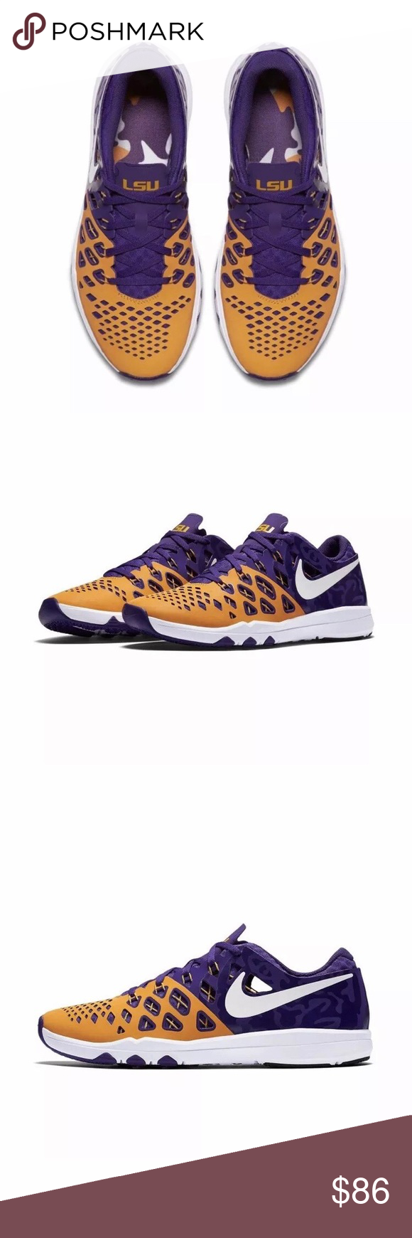 23516fd0d3039e Nike Train Speed LSU Tigers Purple Yellow size 12 New Nike Train Speed 4  AMP Sneakers LSU Tigers Color Purple and Yellow Size 12 Limited edition  Brand new ...