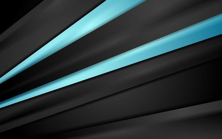 Scarica Sfondi Astratto Sfondo Scuro Linee Blu Azzurro Linee