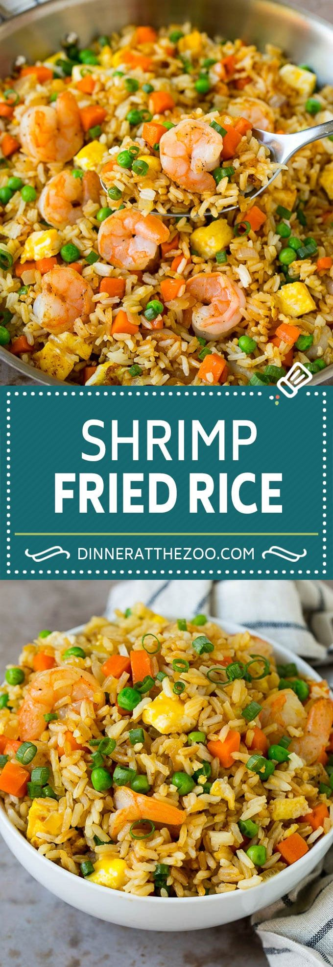 Shrimp Fried Rice Recipe | Chinese Fried Rice #rice #shrimp #peas #carrots #sidedish #dinner #dinneratthezoo #seasonedricerecipes