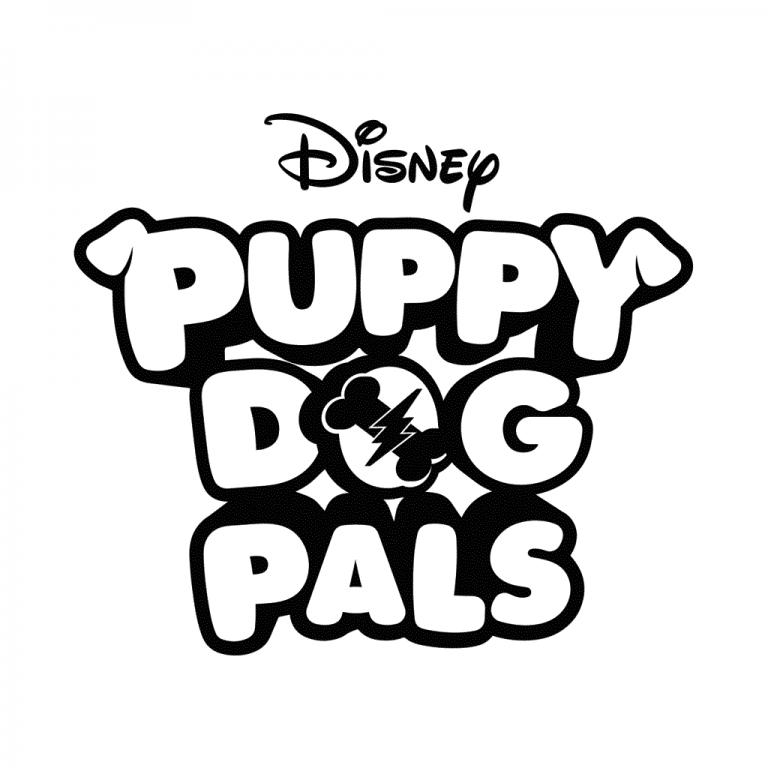 Disney Puppy Dog Pals Logo Coloring Page in 2019 Cartoon