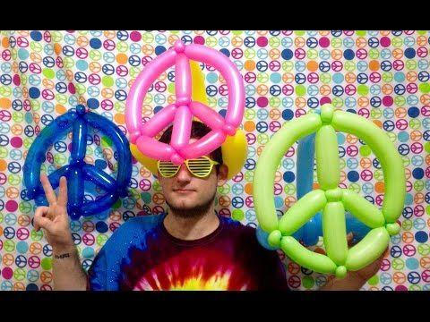 Peace Sign Balloon Hats - YouTube