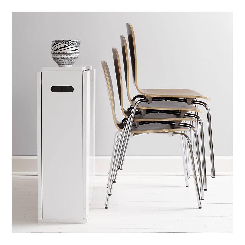 Crate & Barrel Span White Gateleg Dining Table | Living Room ...