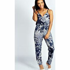 boohoo Hatty Cami Style Oriental Print Jumpsuit - blue We're loving longer-line dressing for day and it doesn't get better than a denim dungaree . Acid wash or bleached, buckle up over a basic tee and you'll have borrowed from the boyfriend in the bag. Fo http://www.comparestoreprices.co.uk/womens-clothes/boohoo-hatty-cami-style-oriental-print-jumpsuit--blue.asp