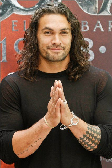 "Didn't see Fifty Shades movie and haven't seen Jason Momoa acting, but I definitely agree, he would be my pick for Christian Grey!  Hee, hee, hee - pinning him to my ""Bedroom Ideas"" board!"