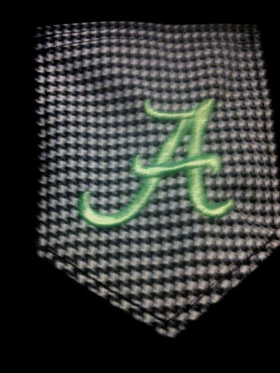Alabama Crimson Tide with Houndstooth Pocket by UniqueSHEboutique