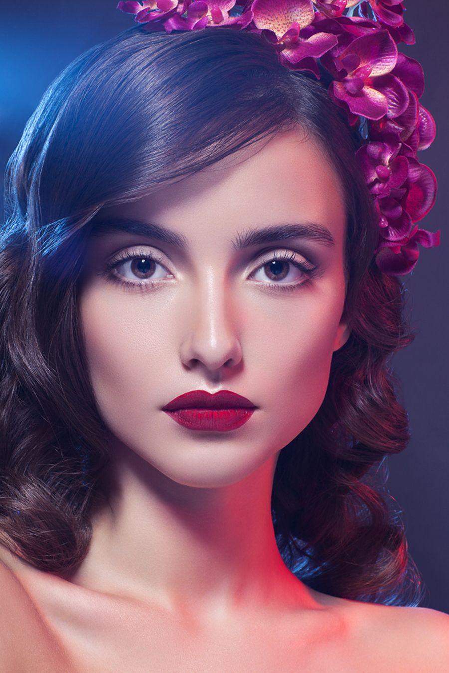 Going For Glow Cute hairstyles, Blood red lipstick, Beauty