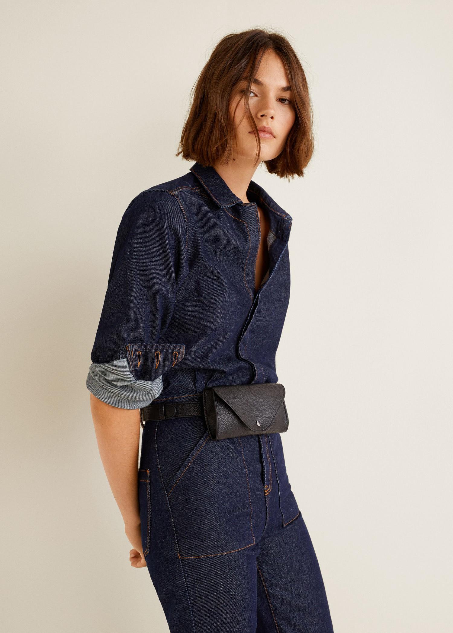 d117bd551491 Mango Flap Belt Bag - Black One Size   Products   Mango bags, Bags ...