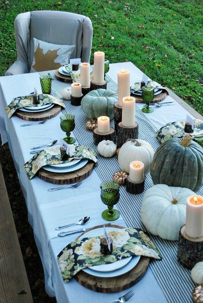 Tischdeko Herbst - 51 Vorschläge für eine herbstliche Tafel #herbstlichetischdeko tischdeko für die gartenparty im herbst #herbstlichetischdeko