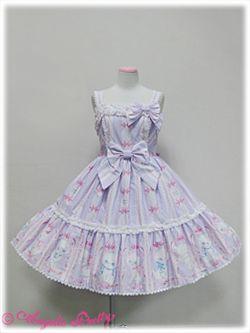 angelic pretty きまぐれバニラちゃんティアードジャンパースカート