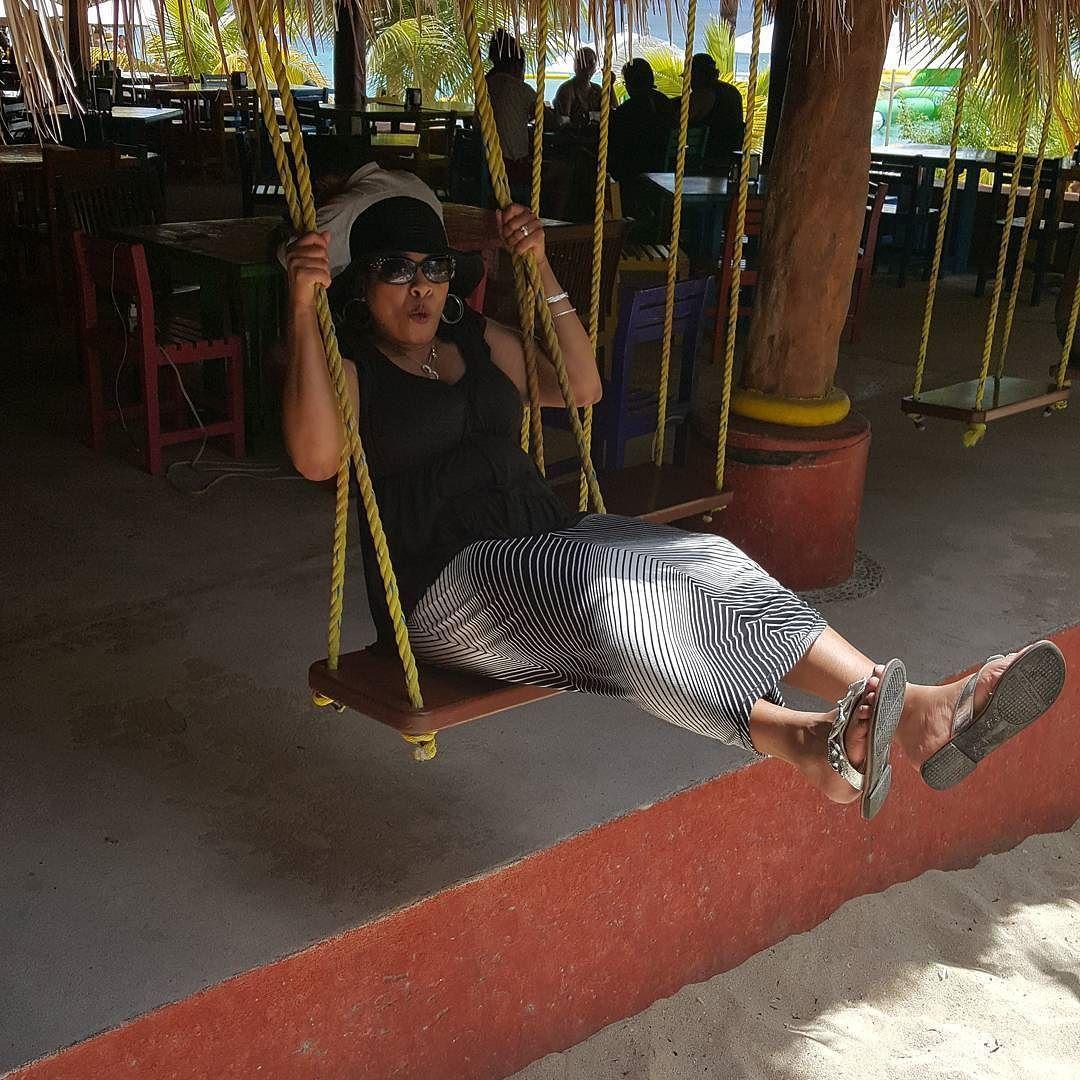 Swinging And Singjng While Enjoying The Beachlife Cozumel Mexico Dreambig