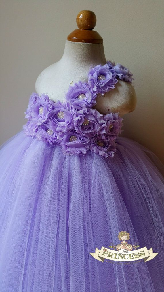 Lavender flower girl dress, tutu dress, flower girl dress, baby ...