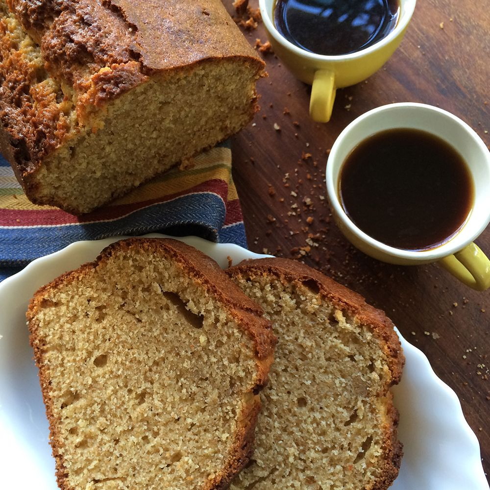 This pound cake is an Ikaria blue zone longevity healthy dessert with olive oil, Greek yogurt and whole wheat. #bluezonerecipes