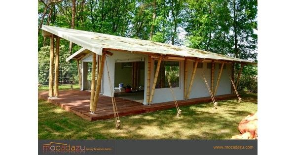 These semi permanent bamboo tents are especially designed for Permanent tent cabins