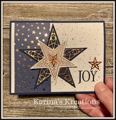 Stampin'Up So Many Stars Christmas Card