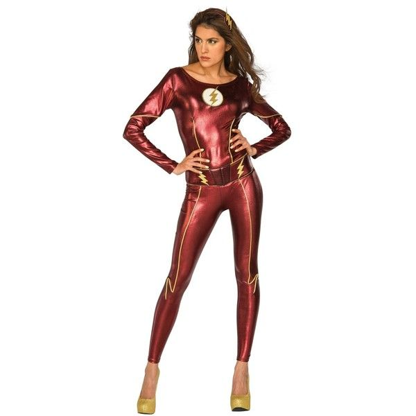 Superhero Style Womenu0027s Flash Catsuit from Wholesale Halloween Costumes is the perfect DC Comics look to make you stand out at your next Comic Convention!  sc 1 st  Pinterest & The Flash Female Adult Bodysuit ($159) ? liked on Polyvore ...
