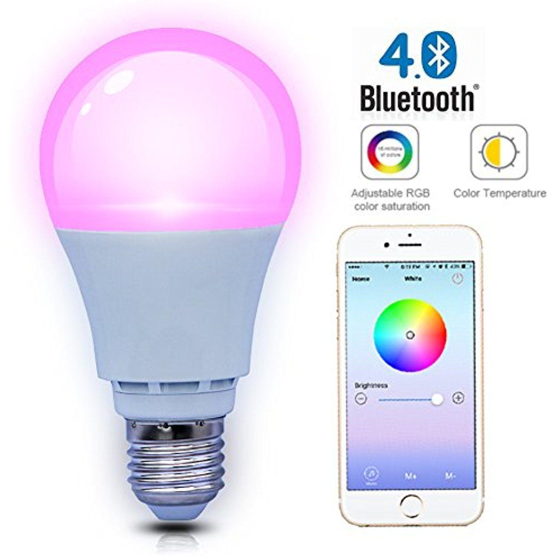 SHYU Bluetooth Smart LED Light BulbE26 Base 6000K
