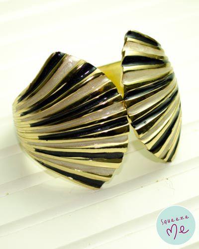 Bracelete Art Decó Preta - R$ 59,90 - Disponível na nossa loja virtual: http://bzz.ms/pulsartpreta