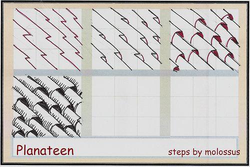 Planateen-Tangle Pattern in 2019 | Zentangle Doodles Sketching